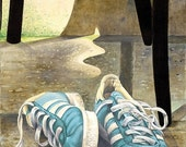 My old sneakers - Giclee print