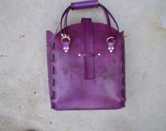 Violet Adjustable Strap Tote Bag