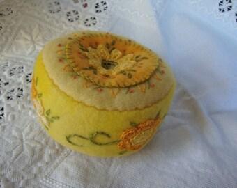 lemon yellow pincushion