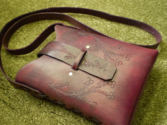 Violet Pouch Bag-Gently Aged