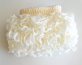 Newborn Ruffled Skirt Tutu Photography Prop - Ivory