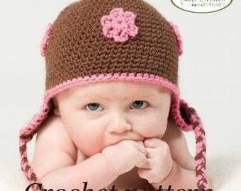 Crochet Pattern - Basic Baby Earflap Beanie