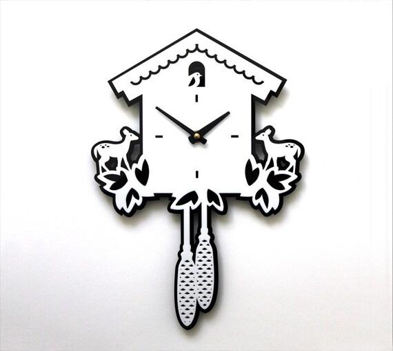 Modern Cuckoo Wall Clock