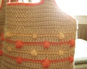 Summer Glow Puff Stitch Crochet Tote Bag