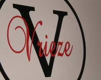 Personalized Last Name Circle Wall Vinyl Decal