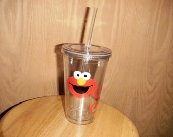 personalized Tumbler with Elmo