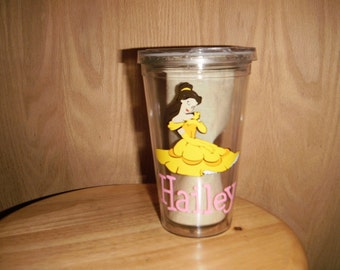 personalized Tumbler with Belle
