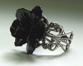 Rosa Negra Adjustable Ring