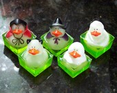 Grab Bag of Limited Edition Mini-Monster Duckies Halloween Soaps - Set of 5 Per Bag