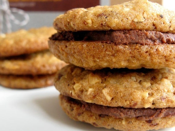 Hazelnut Chocolate Whisky Sandwich cookies by whimsyandspice