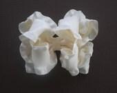 Cream Boutique Double Ruffle Bow