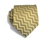 Necktie Gold Maze Silk Mens Necktie