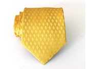 Mens Necktie Goldy Yellow Silk Tie