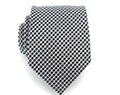 Necktie White and Black Dot Silk Tie