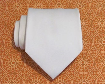 Mens Ties Ivory Silk Necktie With Matching Pocket Square Option