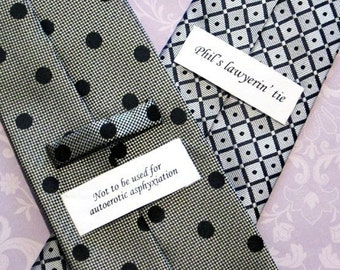 Personalized Custom Label for Neckties and Scarves