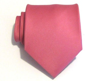 Mens Ties Necktie French Rose Pink Silk Tie