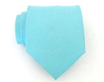 Mens Tie Light Blue Silk Mens Necktie