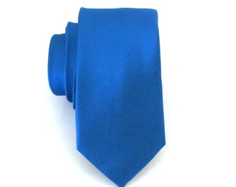 Necktie Royal Blue Striped Skinny Tie