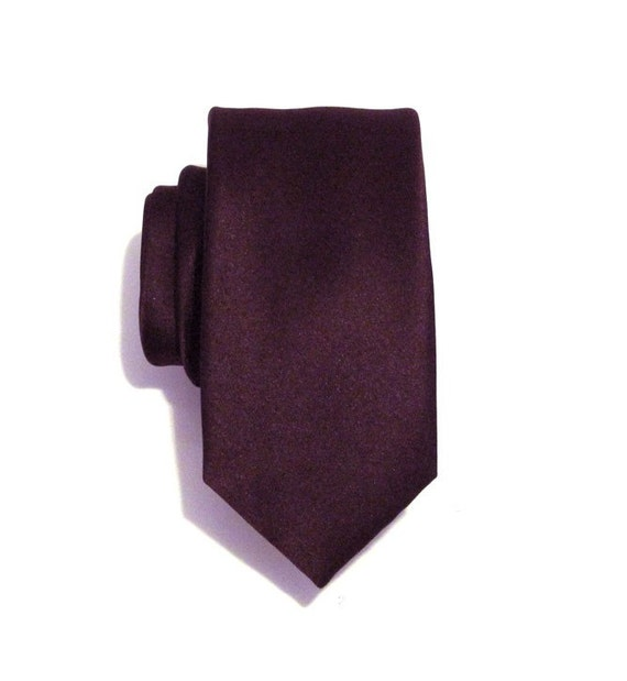 Mens Ties Necktie Dark Purple Mens Silk Skinny Tie