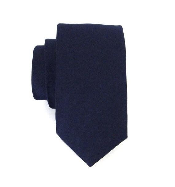 Midnight Blue Skinny Silk Tie