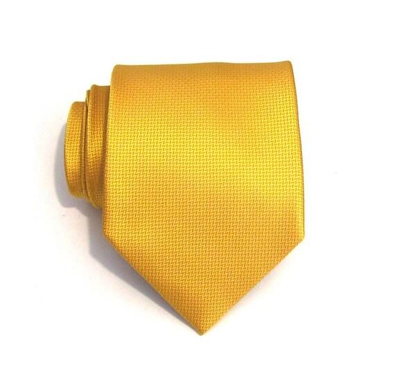Tie Yellow Silk Necktie