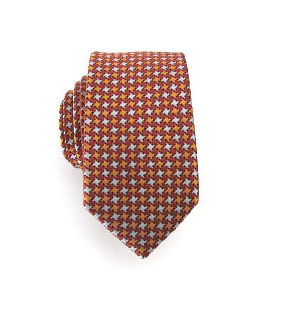 Tie Burnt Orange Pinwheel Skinny Necktie
