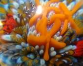 Bottom of the Sea      Large Boro Glass Pendant  Artisan Bead