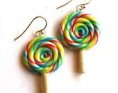 Rainbow Lollipop Earrings