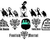 The Haunted Mansion vinyl decals, Hitchhiking Ghosts plus more.