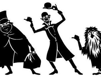 The Haunted Mansion - vinyl decals, Hitchhiking Ghosts with body detail