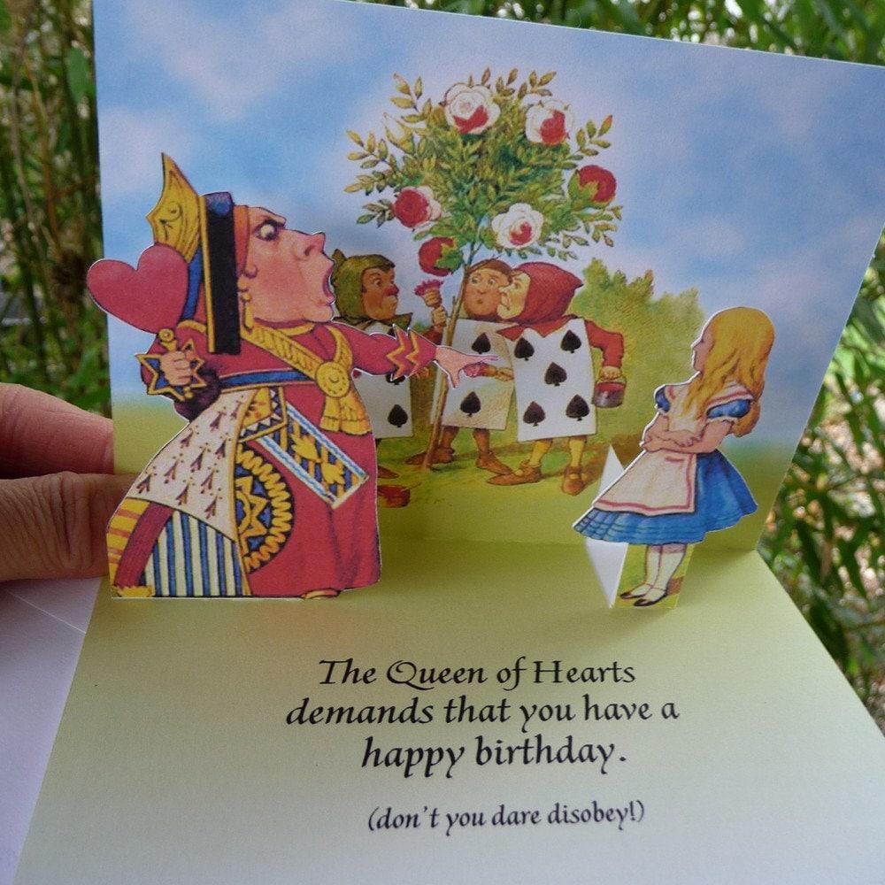 Alice In Wonderland Birthday Card gangcraftnet – Alice in Wonderland Birthday Cards