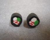 Tuna Roll Sushi Earrings