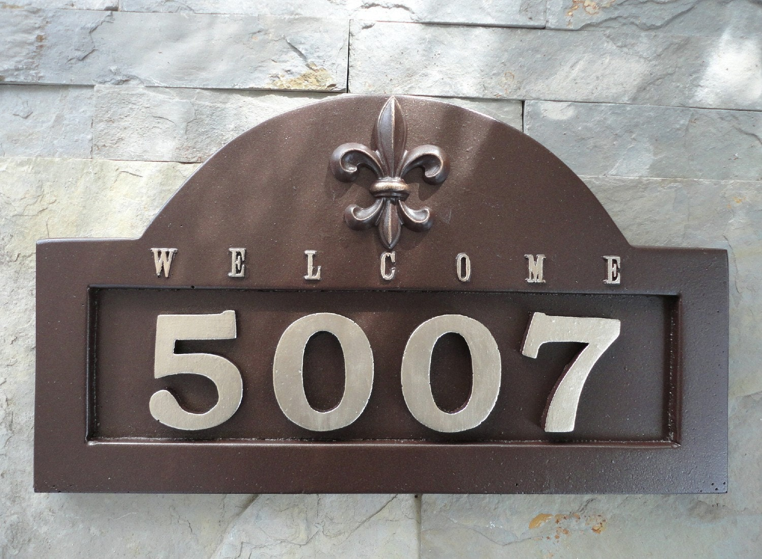 Fleur de lis house numbers address plaque french for House numbers
