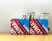 CLEARANCE Storage Bin (Small) No. 68 - Recycled Billboard Banner - Eco-Friendly - Set of 2