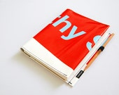 Journal No. 33 - Recycled Billboard Banner - Eco-Friendly - EXPRESS SHIPPING