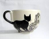 Amsterdam cats -  Big Handpainted Mug- made to order