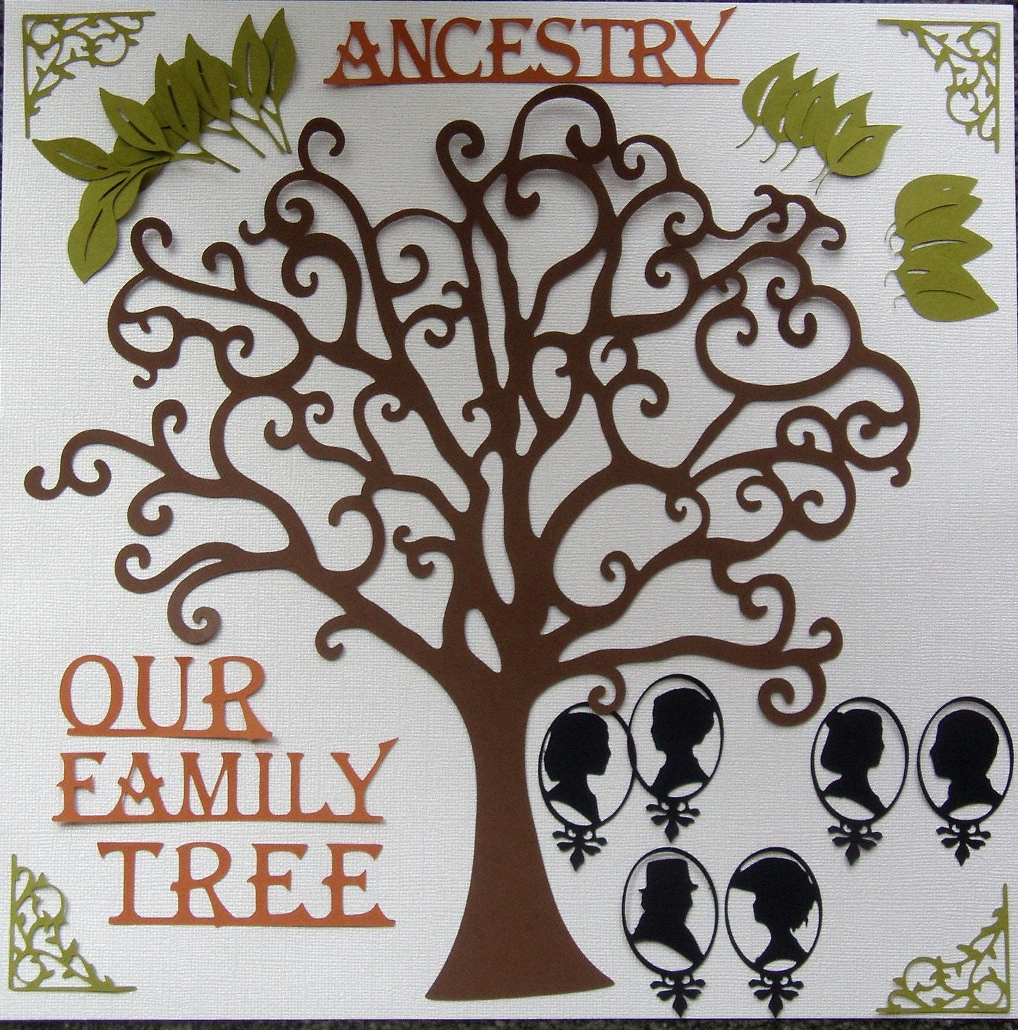 How to scrapbook your family tree - Deluxe Family Tree Die Cut Pack For Scrapbooking Zoom