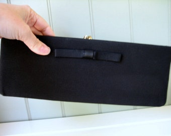 Fabulous Harry Levine Black Clutch Rectangle Evening Bag