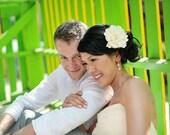 She & the Sea Bridal Peony Hair Flower, Champagne Ivory, Clip, Fascinator, Beach, Destination Wedding, Statement