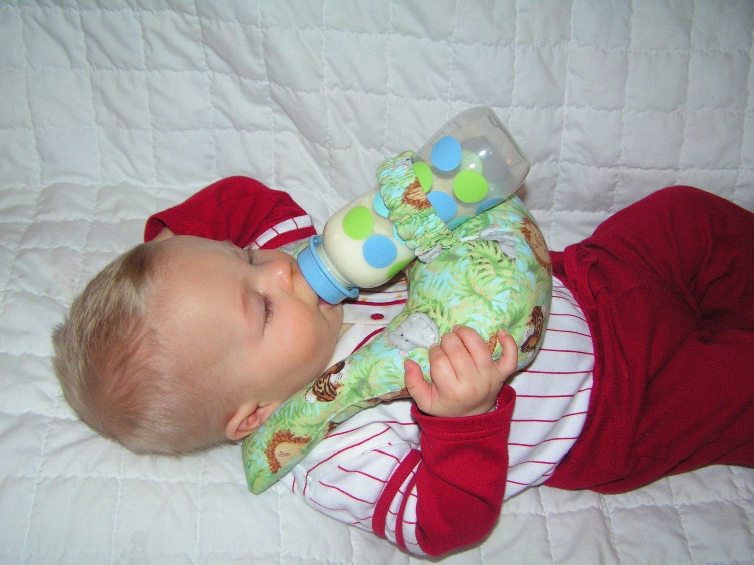 Baby Bottle Holder Prop Pillow Twins Triplets Hands Free