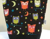 Insulated Lunch Bag - Michael Miller Night Owls