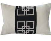 FREE US SHIPPING-Decorative Designer Pillow Cover-12x18-Overlapping Squares In Midnight Blue