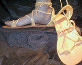 OASIS DANCE SANDALS Leather Lace Up  Palomino