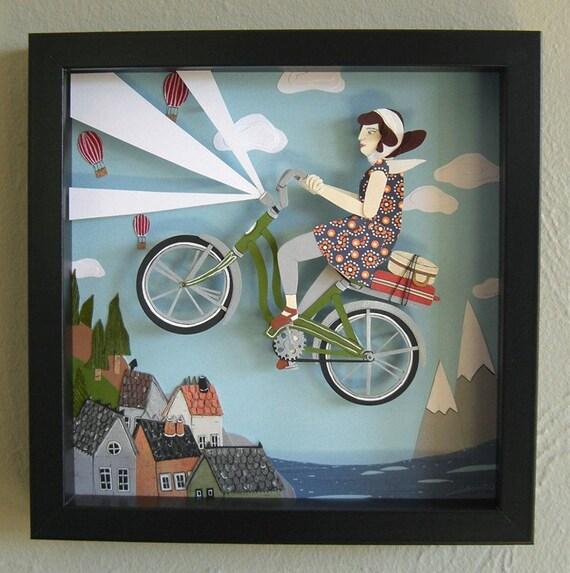 The Magic Green Bike - Original Artwork