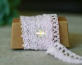 Pink crochet ribbon 3 yards