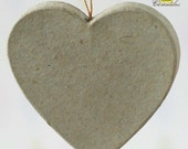 Cleanrance! Paper mache heart ornament