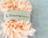 Wholesale 8 yard roll of Peach Garland Fringe Trim - caramelos