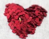 Red heart confetti  .5 oz
