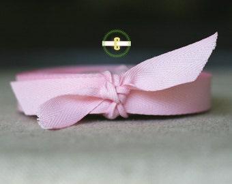Pink Herringbone ribbon 4 yards